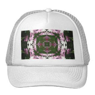 Purple and White Daisies Kaleidoscope 5 Trucker Hat