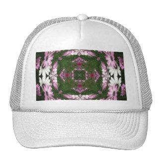 Purple and White Daisies Kaleidoscope 6 Trucker Hat