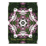 Purple and White Daisies Kaleidoscope 7 5x7 Paper Invitation Card