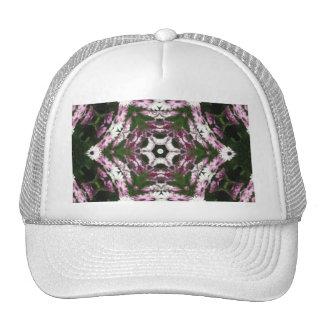 Purple and White Daisies Kaleidoscope 7 Trucker Hat