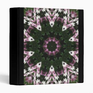 Purple and White Daisies Kaleidoscope 8 Binder