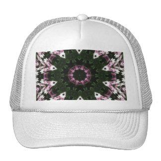 Purple and White Daisies Kaleidoscope 8 Trucker Hat