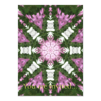 Purple and White Daisies Kaleidoscope 9 Card