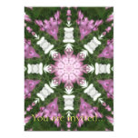 Purple and White Daisies Kaleidoscope 9 5x7 Paper Invitation Card