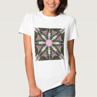 Purple and White Daisies Kaleidoscope 9 Tee Shirt