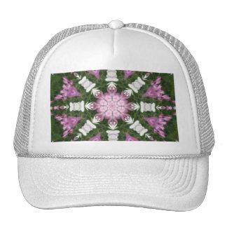 Purple and White Daisies Kaleidoscope 9 Trucker Hat