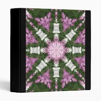 Purple and White Daisies Kaleidoscope 9 Vinyl Binders