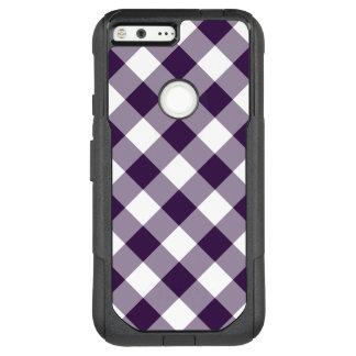 Purple and White Diagonal Plaid OtterBox Commuter Google Pixel XL Case