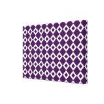 Purple and White Diamond Pattern Canvas Print