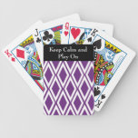 Purple and White Diamond Pattern Deck Of Cards