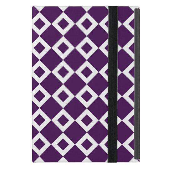 Purple and White Diamond Pattern iPad Mini Case