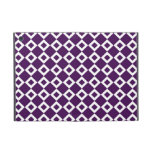 Purple and White Diamond Pattern iPad Mini Cover