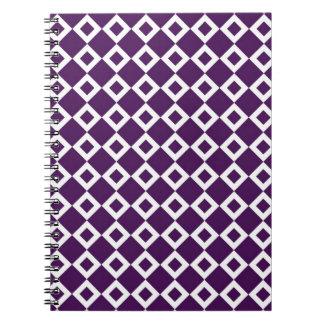 Purple and White Diamond Pattern Journal