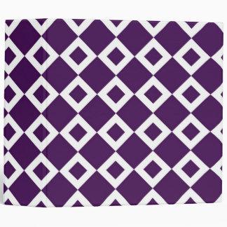Purple and White Diamond Pattern Vinyl Binders