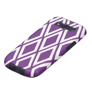 Purple and White Diamonds Galaxy SIII Case