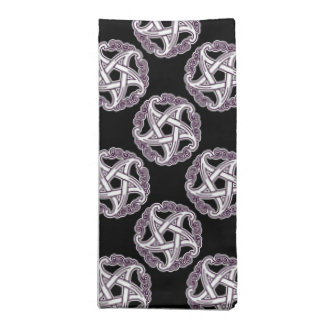 Purple And White Fancy Pentacle Printed Napkin