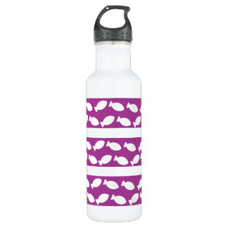 Purple And White Fish Shape Liberty Bottle
