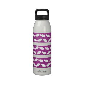 Purple And White Fish Shape Liberty Bottle Reusable Water Bottles