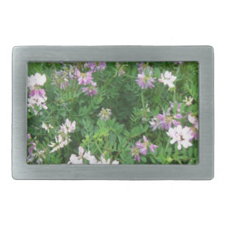 Purple and White Floral Belt Buckles