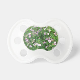 Purple and White Floral BooginHead Pacifier