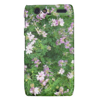 Purple and White Floral Droid RAZR Covers