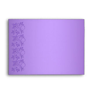 "Purple and White Floral Envelope for 5""x7"" Sizes"