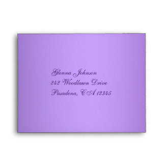 Purple and White Floral Envelope for RSVP Card