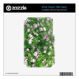 Purple and White Floral iPod Touch 4G Decal