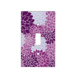 Purple and White Floral Pattern Switch Plate Cover