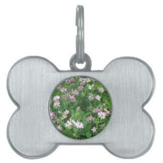 Purple and White Floral Pet ID Tags