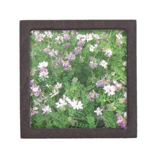 Purple and White Floral Premium Trinket Boxes