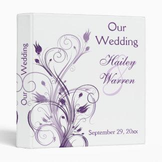 Purple and White Floral Wedding Binder