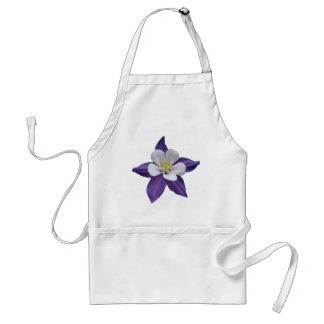 Purple and White Flower Adult Apron