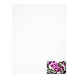 Purple and White Flower Arrangement Photo Customized Letterhead