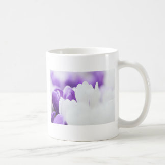 Purple and White flower background Coffee Mug