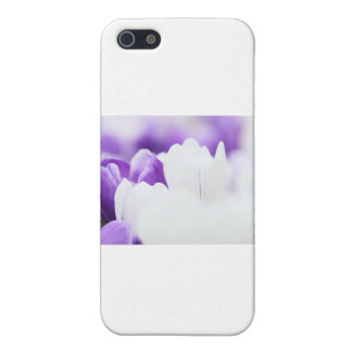 Purple and White flower background iPhone SE/5/5s Case