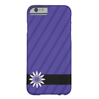 Purple and white flower stripes cell phone case