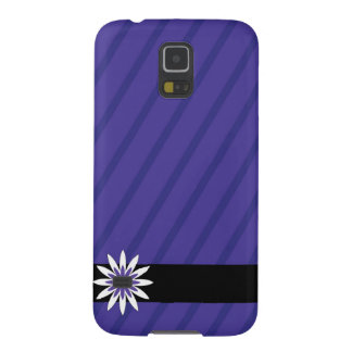 Purple and white flower stripes Samsung galaxy cas Case For Galaxy S5