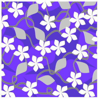 Purple and White Flowers. Floral Pattern. Photo Cutouts