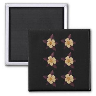 Purple And White Flowers Fridge Magnets