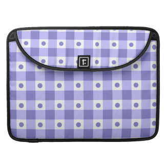 Purple And White Gingham Check Dots Pattern Sleeve For MacBook Pro