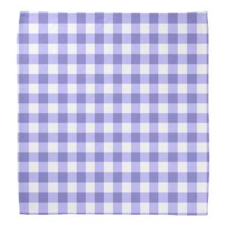 Purple And White Gingham Check Pattern Bandana