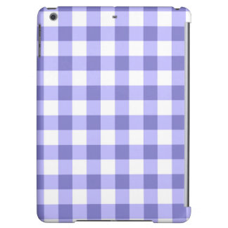 Purple And White Gingham Check Pattern Cover For iPad Air