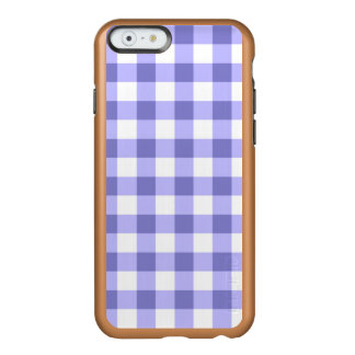 Purple And White Gingham Check Pattern Incipio Feather Shine iPhone 6 Case