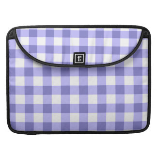 Purple And White Gingham Check Pattern MacBook Pro Sleeve