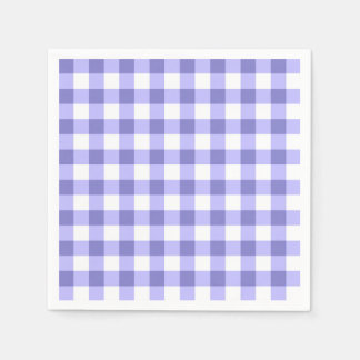 Purple And White Gingham Check Pattern Napkin