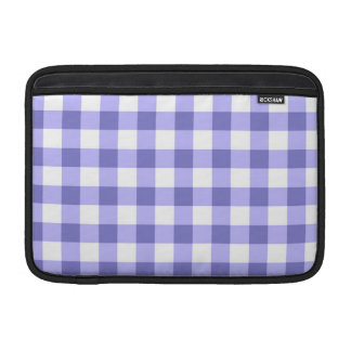 Purple And White Gingham Check Pattern Sleeve For MacBook Air