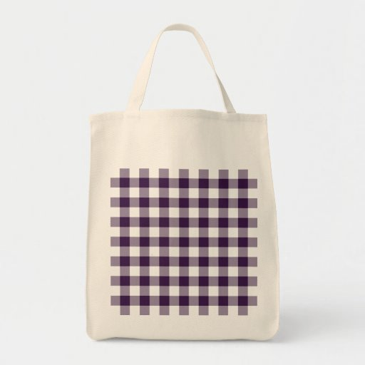Purple and White Gingham Pattern Bags