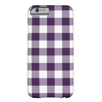 Purple and White Gingham Pattern iPhone 6/6s Case