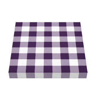 Purple and White Gingham Pattern Canvas Print